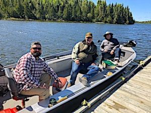 The McDermid-Wright Muskie Fishing Crew at Fireside Lodge in Canada