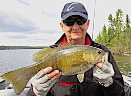Special Trophy Smallmouth Bass Fishing at Fireside Lodge in Canada