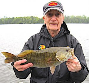Great Trophy Smallmouth Bass Catch Fishing at Fireside Lodge Ontario Canada