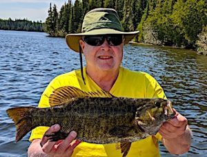 Huge Trophy Smallmouth Bass are Common Fishing at Fireside Lodge in Canada