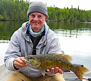 Multiple HUGE Trophy Smallmouth Bass Fly Fishing by Bill at Fireside Lodge in Canada