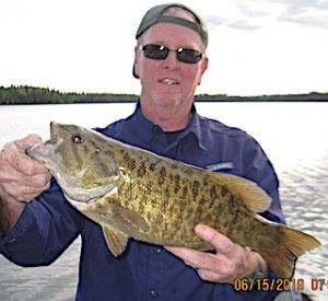21 Trophy Smallmouth Bass in 1 day by Jerry and Bill at Fireside Lodge in Canada