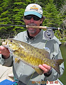 Trophy Smallmouth Bass Fly-Fishing by Bill at Fireside Lodge in Canada