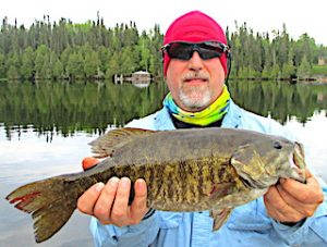 Trophy Smallmouth Bass Fishing Close To Fireside Lodge in Canada by Dan