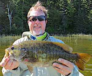 GIANT Trophy Smallmouth Bass Fishing by Dan at Fireside Lodge in Canada