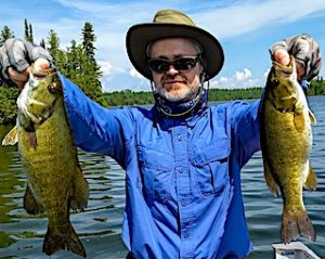 Double Your Smallmouth Fun Fishing by Jamie at Fireside Lodge in Northwest Ontario Canada
