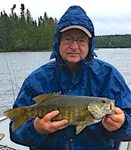 Bob with Another Trophy Smallmouth Bass Fishing at Fireside Lodge in Canada