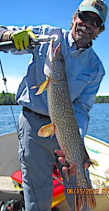 Bill With a BIG Northern Pike Fishing in Canada