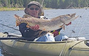 Trophy Northern Pike Kayak Fishing by Jack in Ontario Canada
