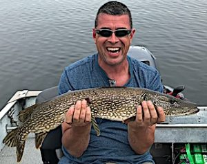 David's Smile Tells The Whole Fishing Story at Fireside Lodge in Northwest Ontario Canada