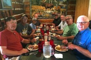 The Pim Group in The Dinning Room Taking Nourishment at Fireside Lodge in Northwest Ontario Canada