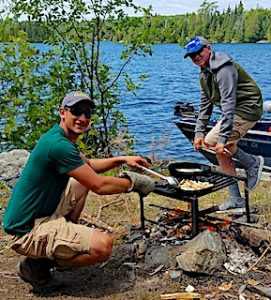 Cooking Shore Lunch On Little Vermilion Lake at Fireside Lodge in Northwest Ontario Canada