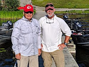 Traditional Fishing Trip by Ron and Bob on Fireside Lodge Docks in Canada