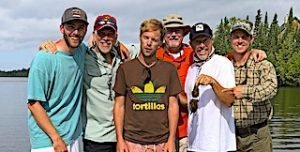 The Vincent Family Fishing Group at Fireside Lodge Docks in Ontario Canada
