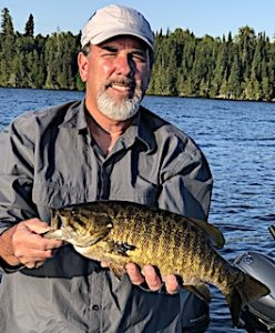 Bill Loves Fishing for Trophy Smallmouth Bass at Fireside Lodge in Northwest Ontario Canada