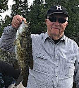 Smallmouth Bass Fishing at it_s best by Ewell at Fireside Lodge in Canada