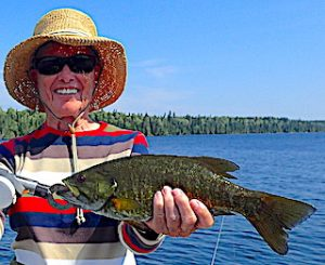 Terrific Smallmouth Bass Fishing by Ollie at Fireside Lodge in Ontario Canada