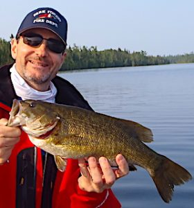 Super Fishing for BIG Smallmouth Bass at Fireside Lodge in Ontario Canada