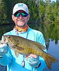 BIG Smallmouth Bass Fishing at Fireside Lodge in Canada by Doug