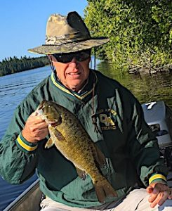 Smallmouth Bass Fishing by Bill at Fireside Lodge in Canada