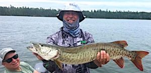 Great Muskie Catch on a Great Muskie Fishing Day by Mike in Canada