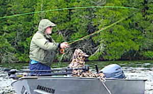 The Fly Fishing Casting Process At Fireside Lodge in Northwest Ontario Canada by Dennis