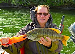Trophy Smallmouth Bass are Regular Fishing at Fireside Lodge in Canada by Paul
