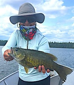 Master Anglers Award Trophy Smallmouth Bass by Kathy at Fireside Lodge in Canada
