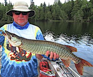 Barred Muskie Fishing by Walt at Fireside Lodge Ontario Canada