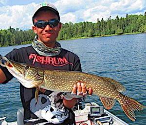 BIG Northern Pike are Awesome by Keeghan at Fireside Lodge in Ontario Canada