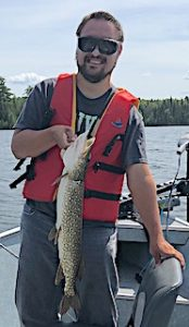 Matt Loving Fishing Northern Pike in Canada