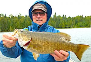 Trophy Smallmouth Bass Fishing by Bill at Fireside Lodge in Northwest Ontario Canada