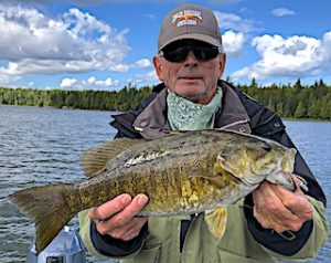 Fireside Lodge Monster Trophy Smallmouth Bass by Steve in Ontario Canada