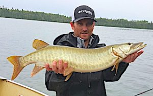 BIG FAT Muskie Fishing at Fireside Lodge in Ontario Canada by Josh