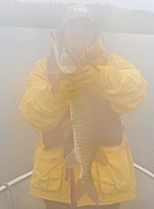 Rainy Day Muskie Fishing by Mary in Canada