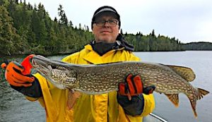 GREAT BIG Northern Pike Fishing by Spencer at Fireside Lodge in Ontario Canada