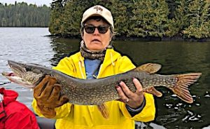GREAT Northern Pike Catch by Heather Fishing in Ontario Canada