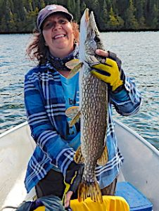 BIG Pike Fishing is Awesome by Mary at Fireside Lodge in Canada