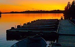 Fabulous Sunsets at Fireside Lodge Docks in Northwest Ontario Canada