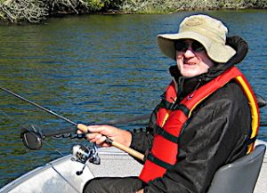 Pete Enjoying Fishing at Fireside Lodge in Northwest Ontario Canada
